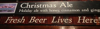 The Christmas Ale sign is up! Great Lakes Brewing Co. tapped the ale on Thursday, Oct. 24.