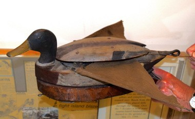 This unique decoy with wings that flap at the tug of a line is believed to have been created for Sandusky Bay hunters in the early 1900s. (D'Arcy Egan)