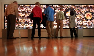 """The Cleveland Museum of Art's large, interactive """"Collection Wall"""" is the biggest display of its kind in any American art museum, officials say. Â"""