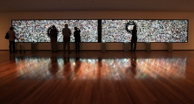 "The new ""Collection Wall"" at the Cleveland Museum of Art is the largest interactive display device in any American museum."