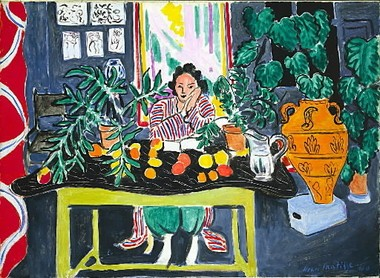 "The ArtLens mobile app for the Apple iPad at the Cleveland Museum of Art explicates Henri Matisse's ""Interior with an Etruscan Vase,"" among other works."
