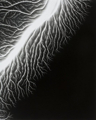 Don't try this at home: Hiroshi Sugimoto's image of lightning shows the results of sending electricity through photographic film.