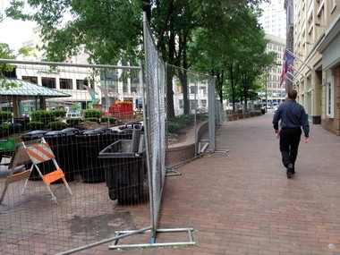 Construction is under way on a wave of improvements at Star Plaza in PlayhouseSquare.