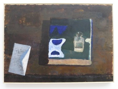 """Sean McConnor of Greenville, Pa., won a well-deserved First Place award in the 77th Midyear exhibition at the Butler Institute of American Art for """"Vase, Book, and Letter."""""""