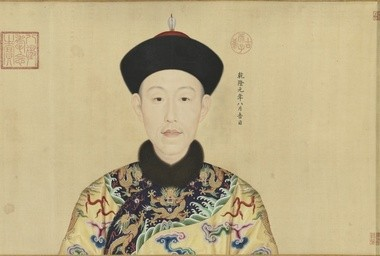 """Giuseppe Castiglione, the Italian Jesuit artist who painted this portrait of the Qianlong Emperor of China in 1736, is credited as the designer of the Chinese zodiac creatures that inspired Ai Weiwei's """"Circle of Animals"""" installation now on view at the museum."""