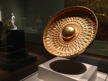 The Phiale Mesomphalos (Offering Dish), Sikeliote (Sicilian Greek), 325-275 B.C., from the Antiquarium of Himera, is on view in the Cleveland Museum of Art's new exhibition on Sicilian antiquities opening Sunday.