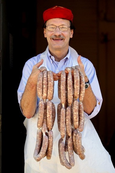 Sausage maker Frank Azman still practices his craft in the St. Clair neighborhood, making pork sausages prized for their subtle, smoky flavor.