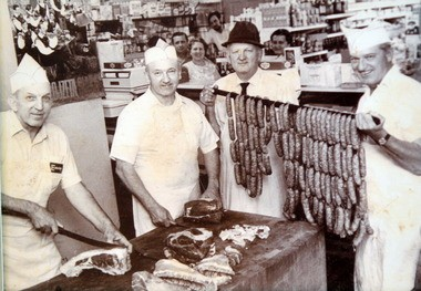Azman & Sons Market has been a staple in the St. Clair neighborhood since 1924. This picture, from the 1970's, shows Frank Azman's father, Frank Azman, (second from left) and his brothers who ran the market. Frank Azman, 61, the son, runs the market now.