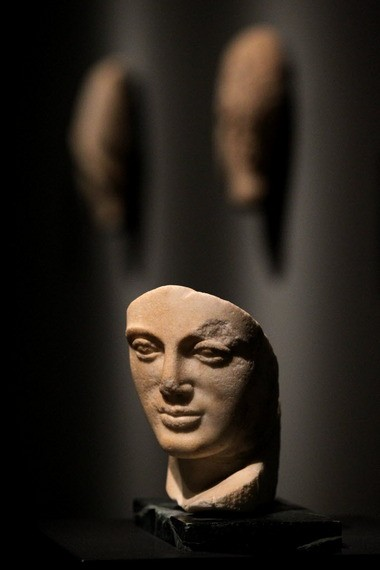 An ancient sculptural fragment of a portrait head from Sicily is prized for its tender carving.