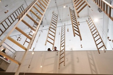 """""""Discern,"""" an installation by Jason Ackman, was on view during ArtPrize in Grand Rapids, Mich."""