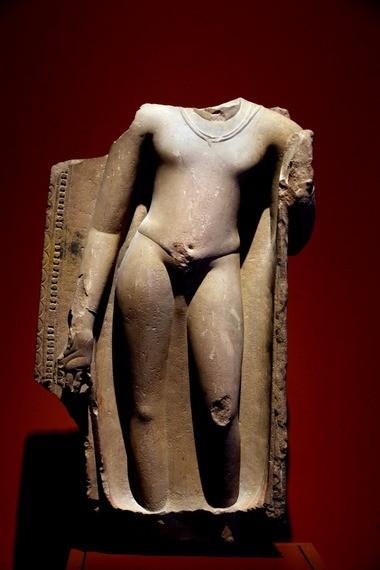 Ancient, yet modern: Standing Buddha, ad 400s, Sandstone, Northern India, Sarnath.