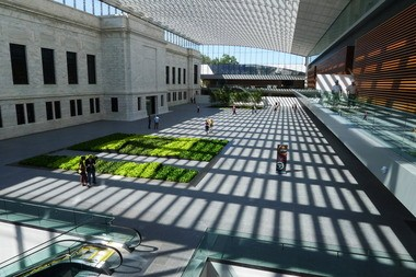 The Cleveland Museum of Art's atrium is the centerpiece of the expansion design by Rafael Vinoly.