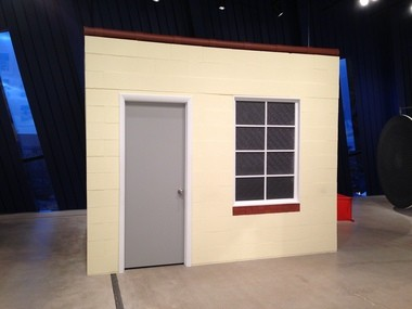"""""""The Suburban,"""" a recreation of an outdoor shed-turned-gallery, is part of the Michelle Grabner exhibition at the Museum of Contemporary Art Cleveland."""