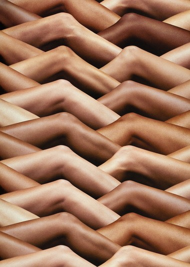 """""""Your Skin has the Power to Protect You,"""" 2008, is a work from Hank Willis Thomas's """"Unbranded"""" series."""