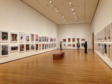 The installation of the Hank Willis Thomas exhibition at the Cleveland Museum of Art adds to the impact of the works on view.