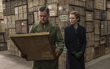 """Matt Damon channels James Rorimer as he plays James Granger in """"The Monuments Men"""" alongside co-star Cate Blanchett."""