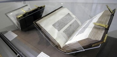 The Morgan Library & Museum exhibited its Gutenberg bibles in 2008.