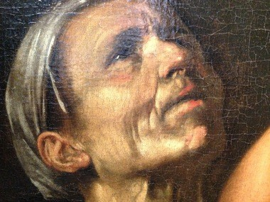 The gaunt woman in the Cleveland Museum of Art's Caravaggio exemplifies the artist's realism.