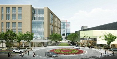 An architect's rendering of the American Greetings Creative Studios planned for Westlake.