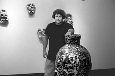 Kirk Mangus at the William Busta Gallery in 1994.