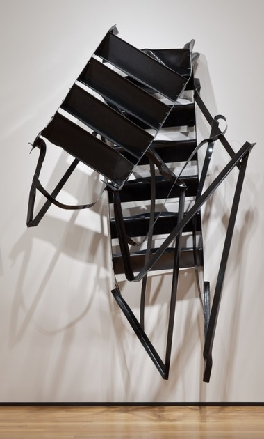 "Monika Sosnowska's 2010 work, ""Stairs,"" is in the permanent collection of the Cleveland Museum of Art thanks to a purchase fund gift made by Scott Mueller."