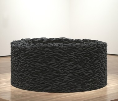 "Liza Lou's ""Continuous Mile,"" a sculpture made of a precisely stacked rope, was acquired by the Cleveland Museum of Art with funds donated by Scott Mueller."
