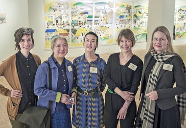 "The five artists of ""Women to Watch - Ohio,"" from left, Lauren Yeager, Eva Kwong, Mimi Kato, Christi Birchfield and Hildur Jonsson."