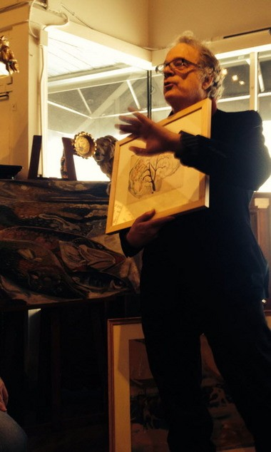Henry Adams spoke at Wolf's gallery in Cleveland in January, 2014.