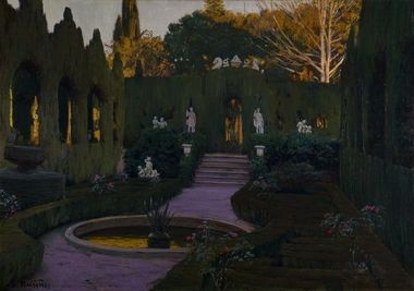 Gardens of Monforte, 1917. Santiago Rusinol (Spanish, 1861-1931). Oil on canvas; 91 x 129.5 cm. Coleccion BBVA 128. (c) Artists Rights Society (ARS), New York/VEGAP, Madrid.