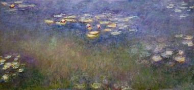 Water Lilies (Agapanthus), c. 1916-26. Claude Monet (French, 1840-1926). Oil on canvas; 200 x 426.1 cm. Saint Louis Art Museum, The Steinberg Charitable Fund 134:1956.