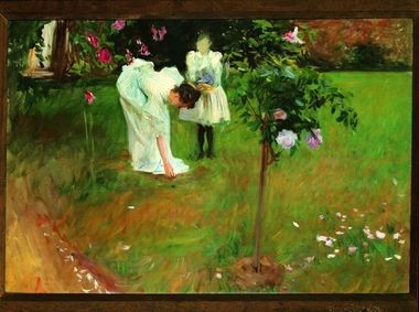 Garden Study with Lucia and Kate Millet, 1886. John Singer Sargent (American, 1856-1925). Oil on canvas; 61 x 91.4 cm. Private collection, Washington, DC.
