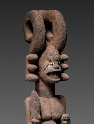 A detail of the Igbo sculpture recently acquired by the Cleveland Museum of Art.