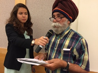 Clevelander Satinder Puri at the City Club of Cleveland on Sept. 28 questioned advocates of Cuyahoga County Issue 8, which would renew a 10-year tax on cigarettes to support arts and culture.