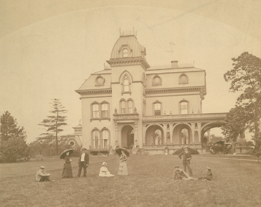 An undated photo provided by the Children's Museum of Cleveland shows the Stager-Beckwith Mansion in the 19th century.