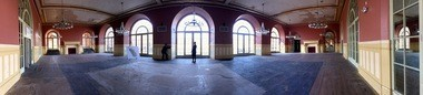 "The ballroom of the Stager-Beckwith Mansion, soon to become the ""Adventure City"" of the Children's Museum of Cleveland."