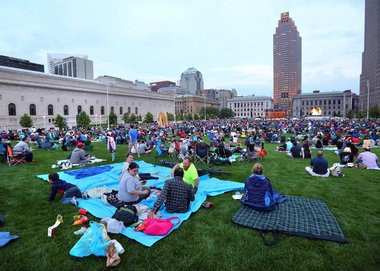 """A crowd gathered on the downtown Mall on July 1 to hear the Cleveland Orchestra performs the """"Star-Spangled Spectacular,"""" one of the free annual events provided by cultural organizations receiving operating support through Cuyahoga County's cigarette tax for arts and culture."""