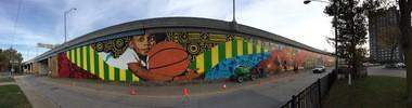Ananda Nuha's Creative Fusion mural as of Wednesday, Nov. 2.
