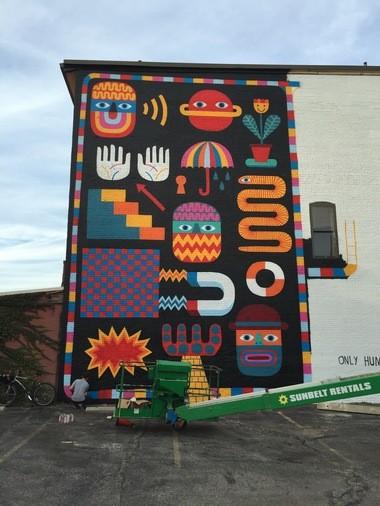 David Shillinglaw's Creative Fusion mural as of Wednesday, Nov. 2.