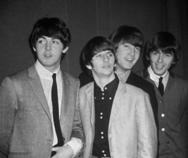 The Beatles, shown in 1963, a year before their first world tour.