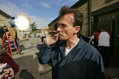 "Robert Knepper, on a break while filming ""Prison Break"" in 2005."