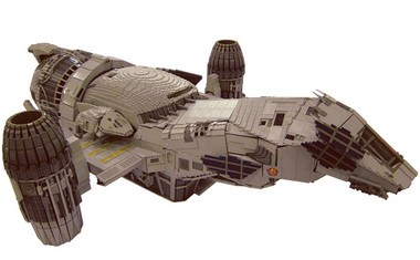 """Adrian Drake's pride and joy is this 70,000-piece replica of the """"Serenity"""" ship from the television series """"Firefly."""""""