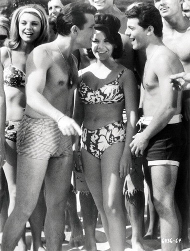 "Walt Disney wouldn't allow Annette Funicello to wear a bikini until the last installment of the beach movies, according to Kelly Killoren Bensimon's ""The Bikini Book,"" published by Assouline. She mostly wore two-piece bathing suits that covered her navel."