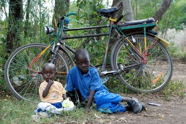 This photograph of two boys outside of Kisumu, Kenya, by Shel Jane Greenberg, will be on through August 31 at Studio 2091 in Cuyahoga Falls.