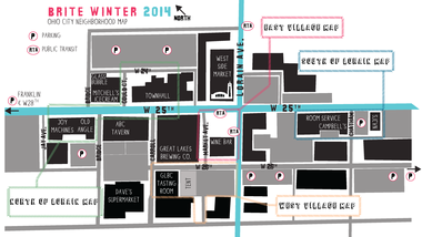 Brite Winter venue map.