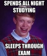 A Bad Luck Brian meme.