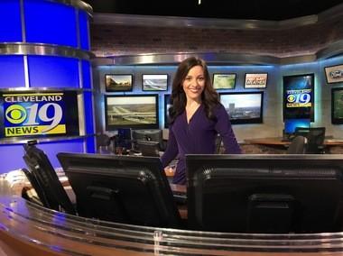WOIO meteorologist Samantha Roberts relishes predicting