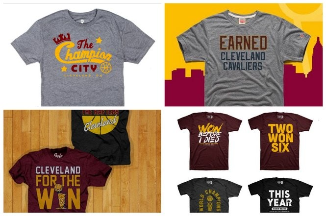 new product 18d70 8f2d8 Celebrate the Cavaliers championship in style with these T ...