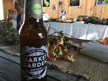 Market Garden Brewery's All-Ohio IPA is shown where it began: On the Napiers' farm.