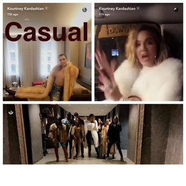 Kourtney and Khloe Kardashian posted photos on Snapchat of their trip to Cleveland on Monday, April 10, 2017.