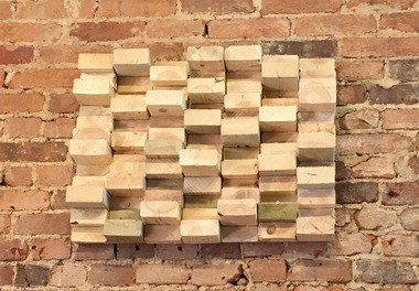 The Jenga wall helps with sound.